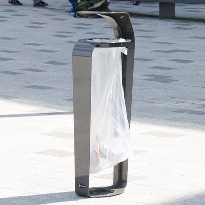 Porte sac poubelle vigi courbe for Porte sac poubelle